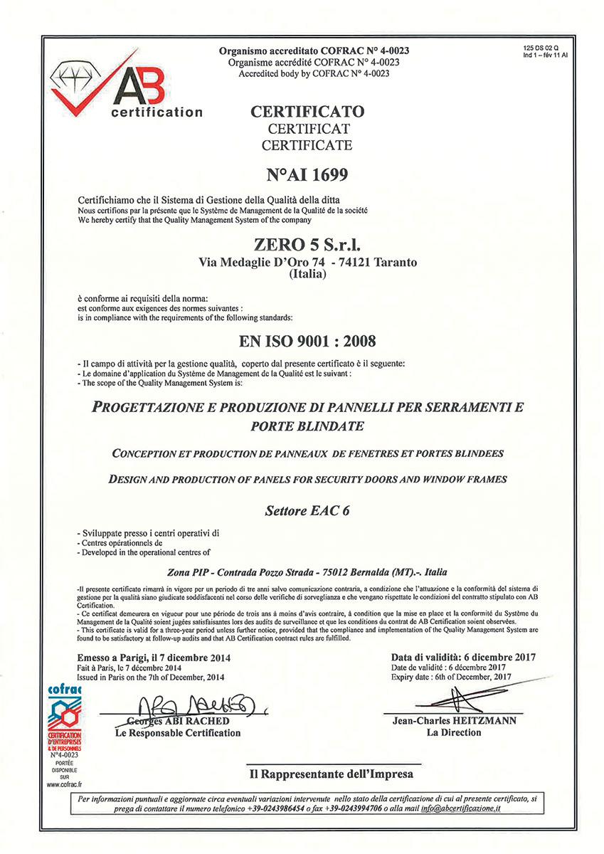 Certification zero5 certification xflitez Gallery